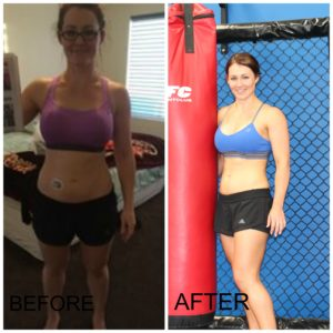Liz who won the 8 week body transformation challenge at M1FC