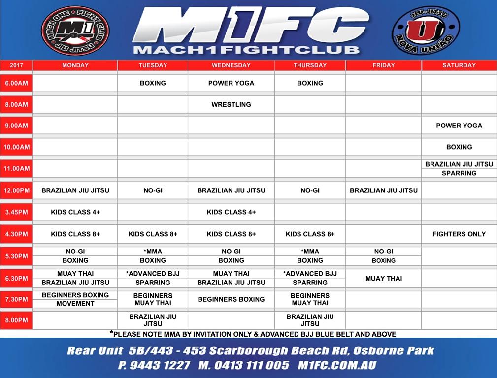 M1FC Osborne Park timetable
