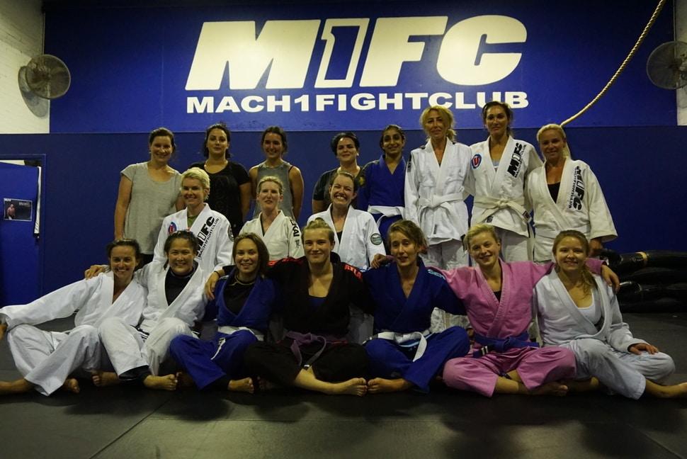 women's only Brazilian jiu-jitsu class
