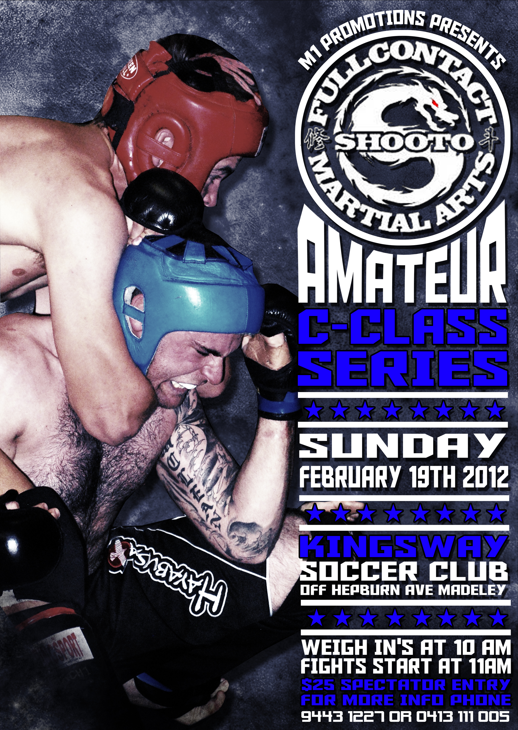 C-Class Shooto amateur MMA event on Sunday February 19th 2012 starting at 11am