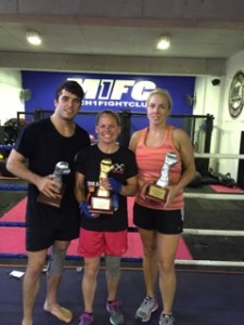 Jack Becker, Bec Moss and Renee Felton, who all Box out of M1FC win their divisions