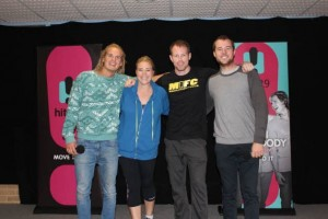 Heidi Will & Woody with Self Defence Expert, Stephen Walton